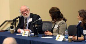 Photo of Tom Rodd speaking on a panel
